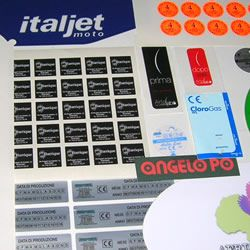 Industrial/advertising labels