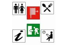 Adhesive pictograms
